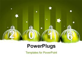 Glittering blue christmas balls on dark background powerpoint design layout