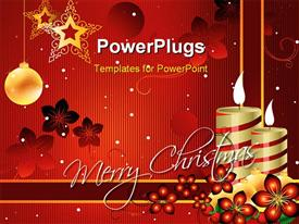 PowerPoint template displaying beautiful attractive xMas greetings in the background.