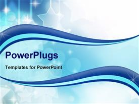 PowerPoint template displaying a bluish background with a number of stars