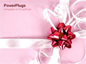 PowerPoint template displaying christmas presents in the background.
