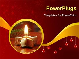 PowerPoint template displaying christmas still life - Surprise in a walnut shell