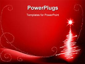 PowerPoint template displaying the Christmas celebration with reddish background