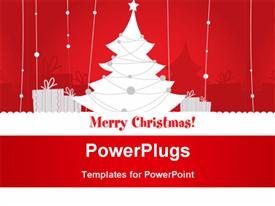 PowerPoint template displaying cute Christmas design in the background.