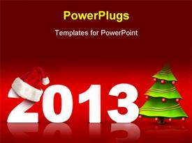 Christmas and New Year background. 2D graphic. Computer Design powerpoint template