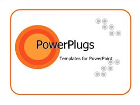 PowerPoint template displaying abstract background with orange and grey circles in the background.