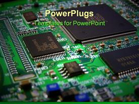 PowerPoint template displaying computer components Circuit board, graphics card