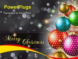PowerPoint template displaying elegant Classic Christmas Greetings background for flyers, invitations, cards or posters