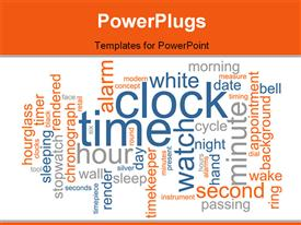Word cloud concept clock time powerpoint design layout