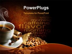PowerPoint template displaying coffee