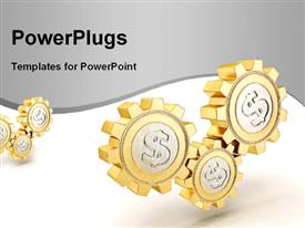 PowerPoint template displaying gold coin