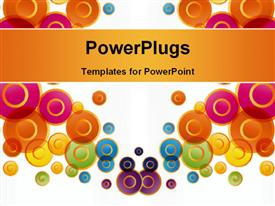 PowerPoint template displaying various circles all of them of different colors