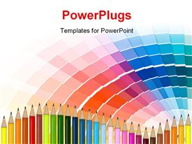 PowerPoint template displaying abstract background from color guide. Close up in the background.