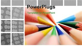 PowerPoint template displaying colors on white in the background.