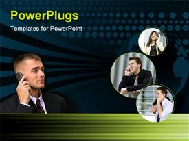 Communication_0306 powerpoint template