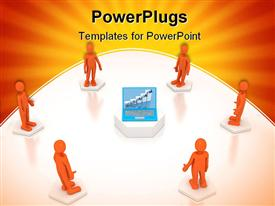 Communication concept over white . 3D image powerpoint theme