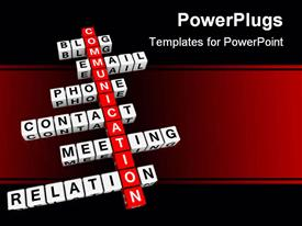 Communication crossword (from cubes buzzword 3D hires series) template for powerpoint