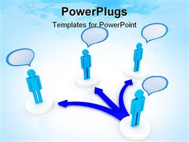 Person facing to a difficult choice of one of three ways powerpoint template