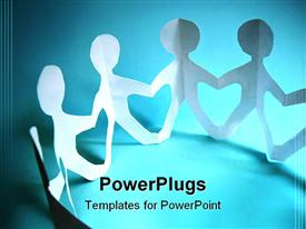 Community of people holding on hands concept template for powerpoint
