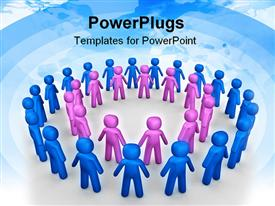 PowerPoint template displaying generated depiction a concept of peoples in community