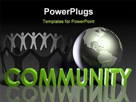 Global Community Concept of Online Forum Art powerpoint theme