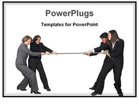 Business teamwork competition template for powerpoint