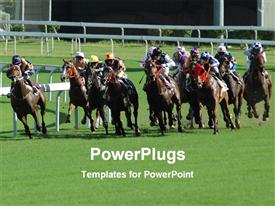 Horse racing powerpoint design layout