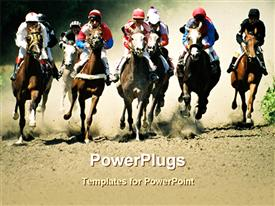 Horse racing template for powerpoint