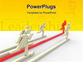 Run people on competition concept powerpoint design layout