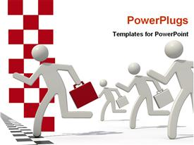 PowerPoint template displaying winner businessman