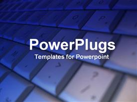 PowerPoint template displaying the zoomed version of a keyboard