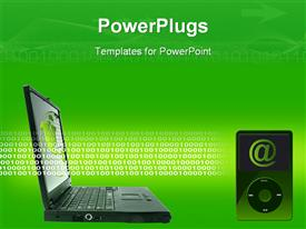 Laptop technology powerpoint theme