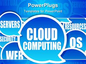 PowerPoint template displaying cloud Computing background express the concept of cloud computing in the background.