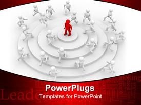 Concept of leadership. 3D image. Business template for powerpoint