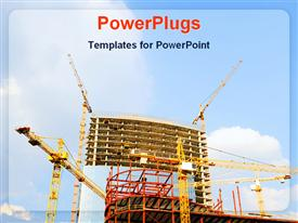 Building under construction powerpoint theme