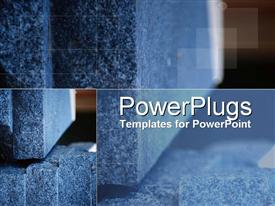 PowerPoint template displaying modern concrete with structural overtones in the background.