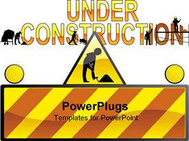 PowerPoint template displaying under construction in the background.