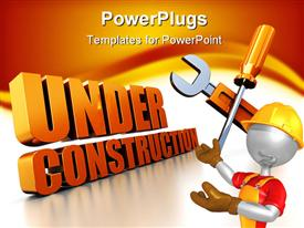 Under construction sign powerpoint theme