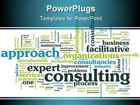 Management Consulting Service in a Company as Art powerpoint design layout