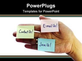 Contact us email us and join us concept powerpoint design layout