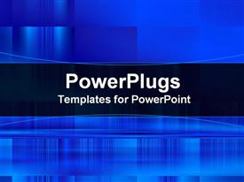 PowerPoint template displaying blue abstract template