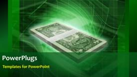 PowerPoint template displaying a short video of an abstract green colored  background - widescreen format