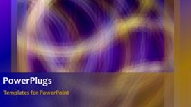 PowerPoint template displaying abstract animated corporate background with multiple colors displayed - widescreen format