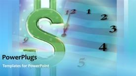 PowerPoint template displaying a bluish background with a number of digits - widescreen format