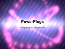 PowerPoint template displaying a short video of an abstract purple colored background