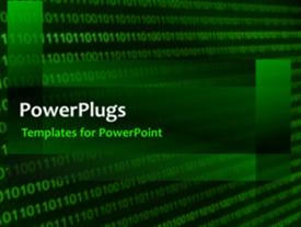 PowerPoint template displaying a short abstract video of a green colored background