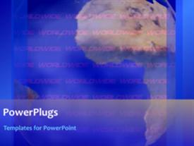 PowerPoint template displaying short video of a global corporate background