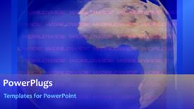 PowerPoint template displaying short video of a global corporate background - widescreen format