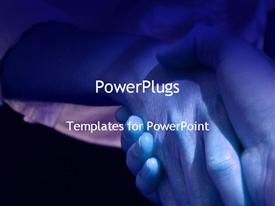 PowerPoint template displaying handshake in the background.