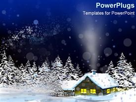 Cozy home in wintry land powerpoint design layout