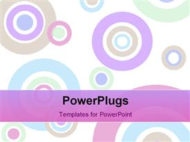 PowerPoint template displaying background depiction composed of pastel circles of various sizes in the background.